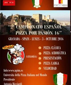 """2^ Campeonato Español """"Pizza por Pasión 2016"""""""