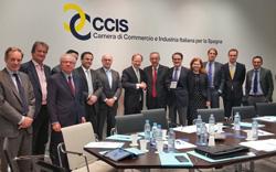 Il ringraziamento della CCIS all'Ambasciatore Pietro Sebastiani