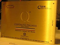 """Consegna del """"Marchio Ospitalità Italiana""""  a 21 ristoranti in Spagna"""