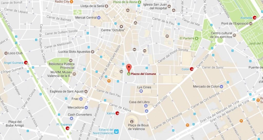 Mappa Plaza Ayuntamiento