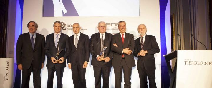 Francisco Reynés (Abertis y Cellnex Telecom) y Francesco Monti (Esprinet) reciben el Premio Tiepolo  2016