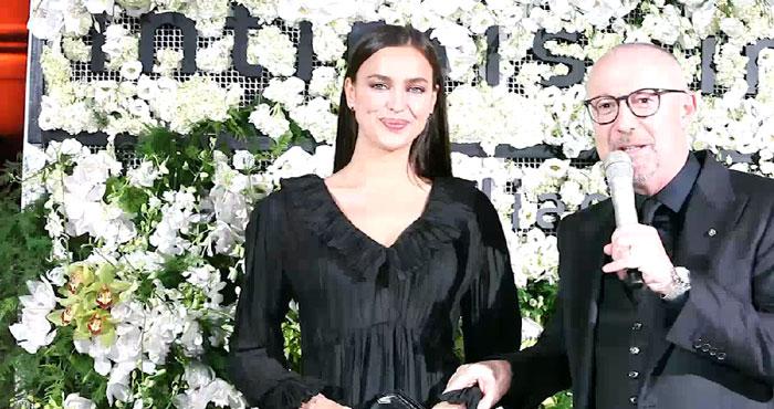 Irina Shayk e Sandro Veronesi (CEO di Intimissimi, impresa del gruppo Calzedonia)