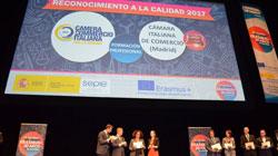 """La CCIS premiata con il """"Reconocimiento a la Calidad 2017"""" per la gestione del progetto Tourism for VET"""