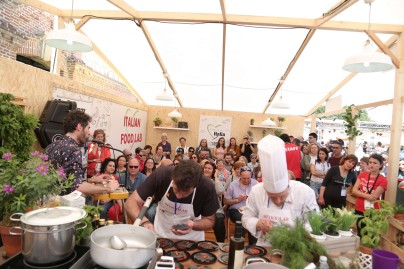 xPassione Italia 2018_Dia 3-161 Showcooking nel Food lab