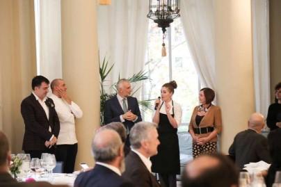 Almuerzo en la Embajada Italiana elaborado por el chef PINO CUTTAIA-85
