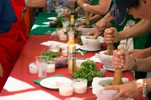 Campionato di Pesto genovese al Mortaio