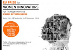 "Aperto il bando ""EU Prize for Women Innovators 2017"""