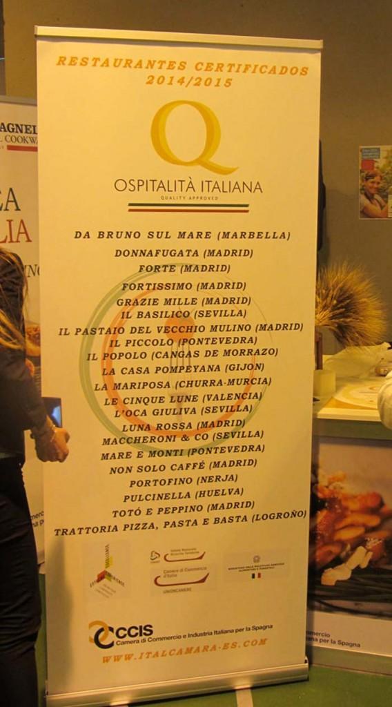 """Consegna del """"Marchio Ospitalità Italiana""""  a 21 ristoranti in Spagna4"""