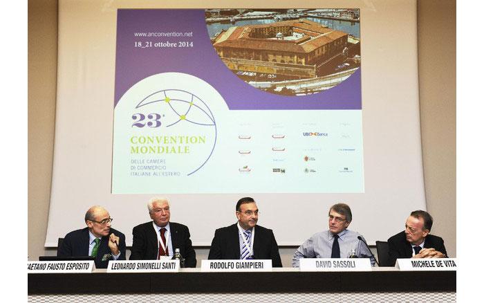 Competitività, e internazionalizzazione al centro dei lavori della Convention Mondiale delle Camere