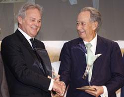 Ceremonia de entrega del Premio Tiepolo  2013 a Juan-Miguel Villar Mir y Pietro Salini