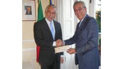 El embajador Stefano Sannino da las gracias a todos aquellos que han contribuido al éxito de la jornada solidaria del 22/10