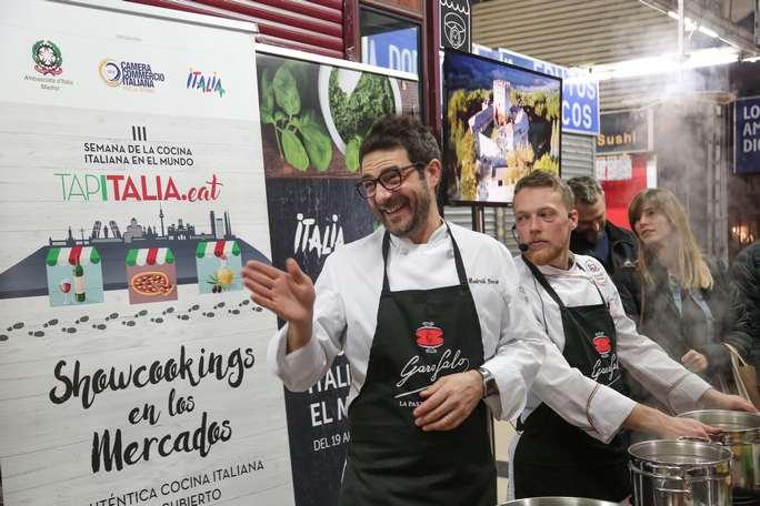 Gli chef di FIC España, Manfredi Bosco (sx) e Marco Bozzolini (dx)